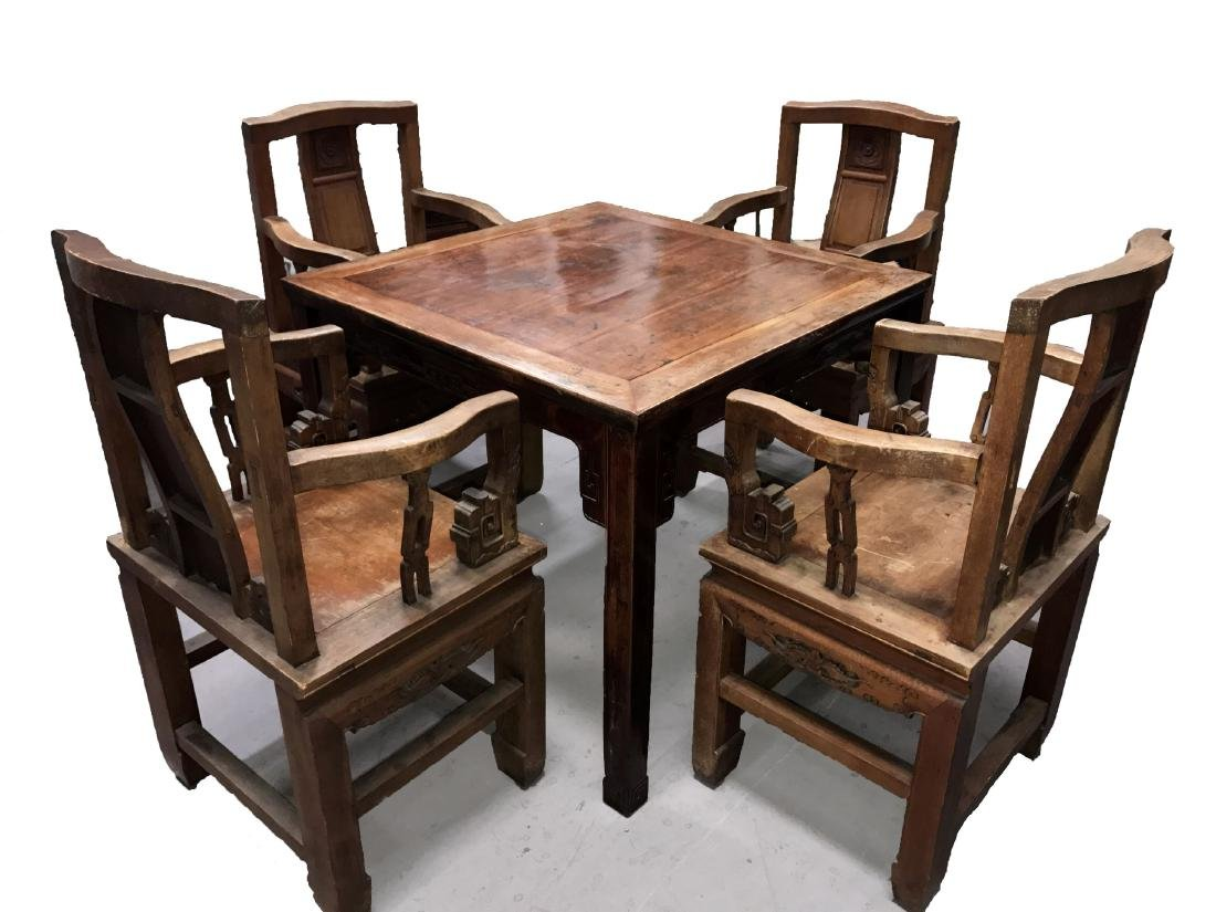 A Set of Chinese Estate Wooden Antique Table Furniture