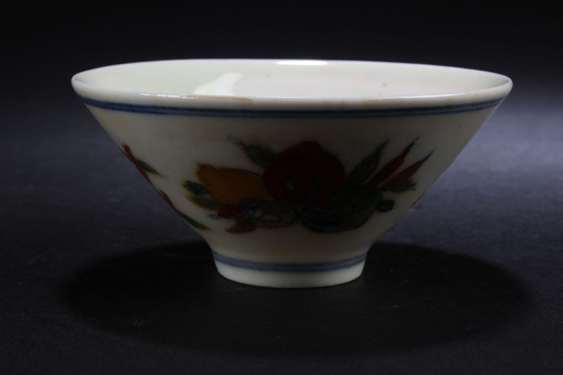 A Chinese Flower-blossom Estate Porcelain Bowl Display