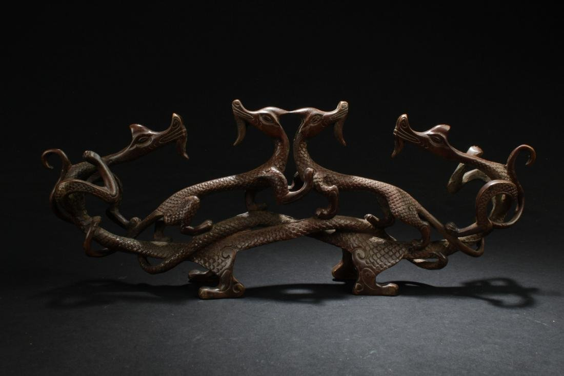 An Estate Chinese Myth-beast Fortune Display