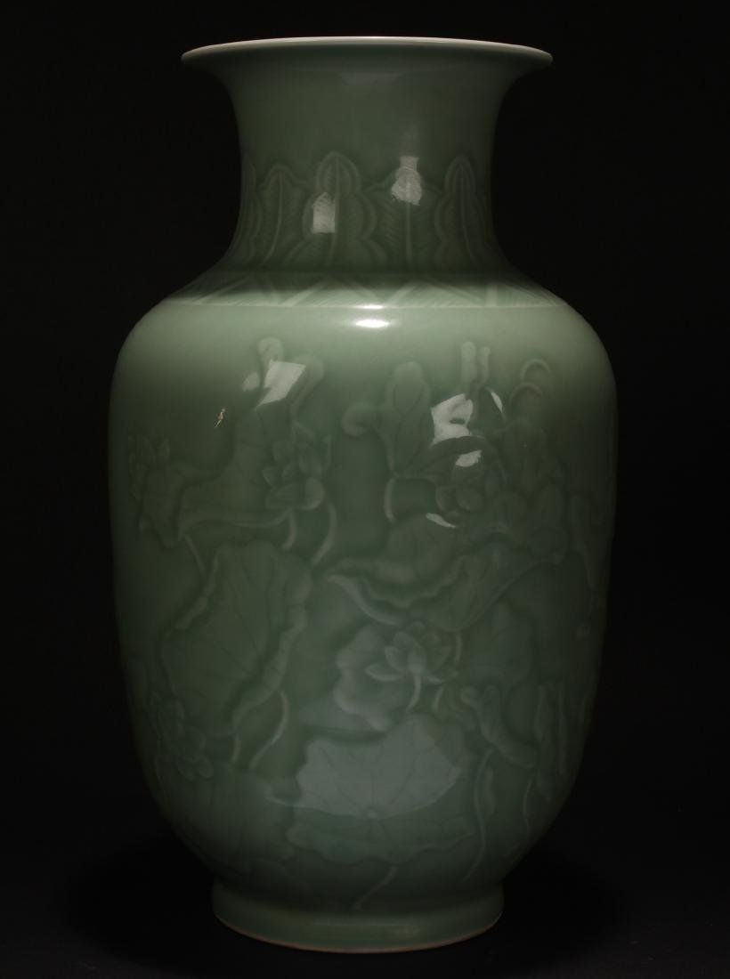 A Chinese Fortune Estate Longquan Porcelain Vase