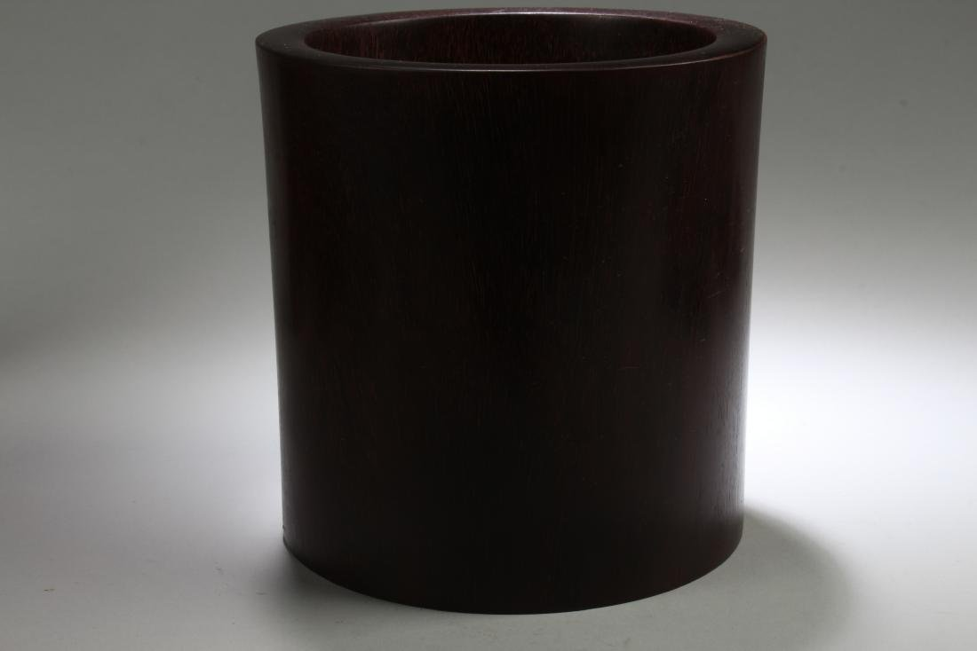 A Chinese Plain-style Estate Wooden Brushpot