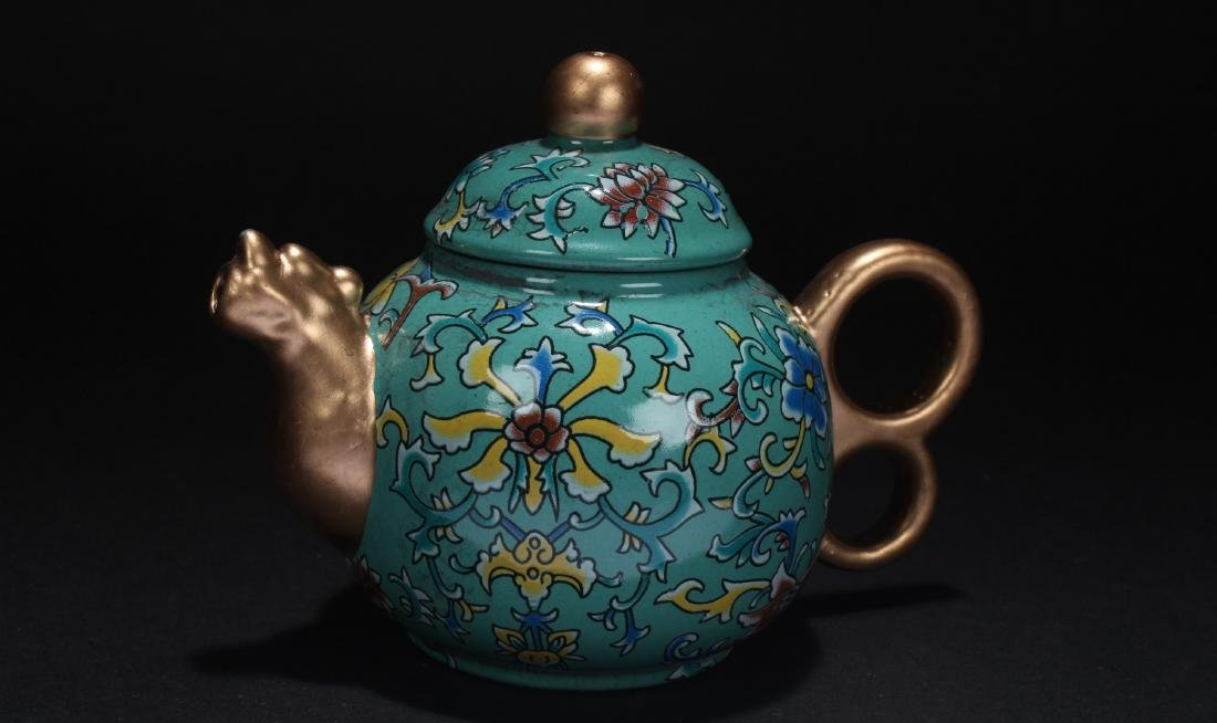A Chinese Estate Cloisonne Tea Pot