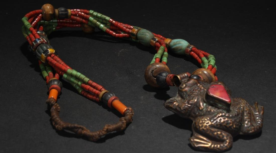 A Chinese Fortune Estate Tibetan-style Necklace