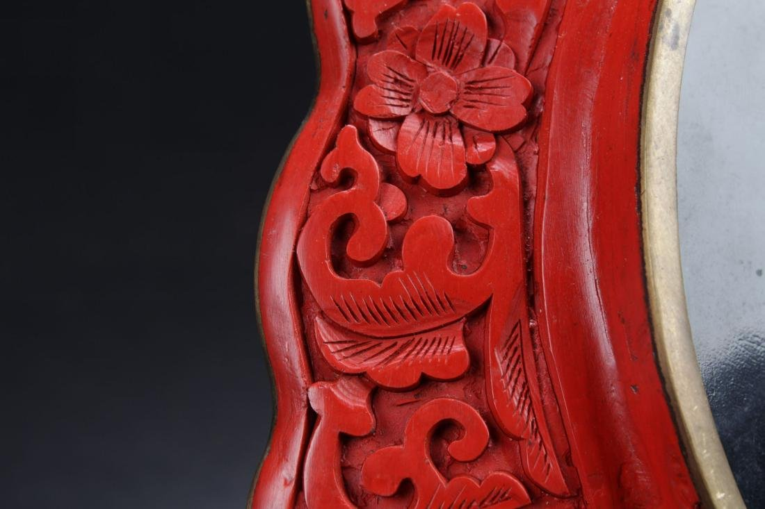A Nature-sceen Chinese Estate Tri-podded Censer Display