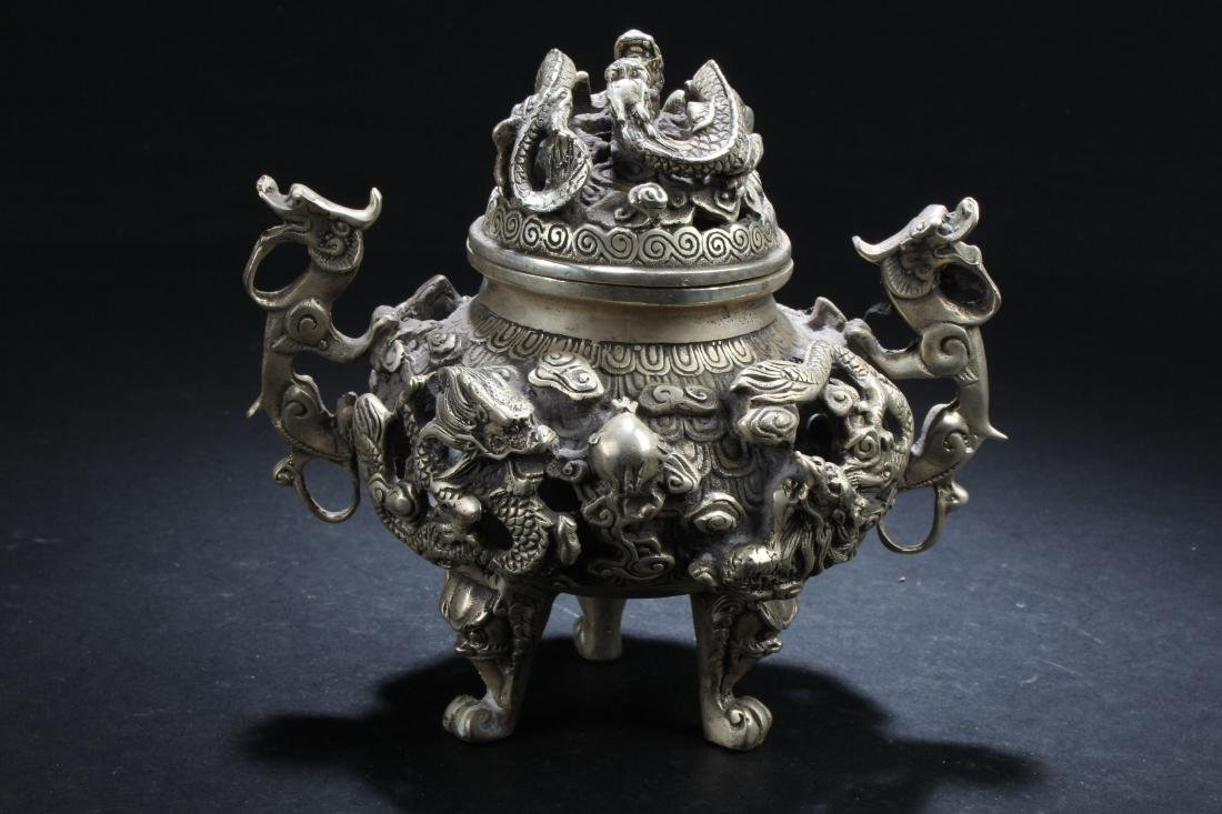 An Estate Chinese Fortune Censer Display