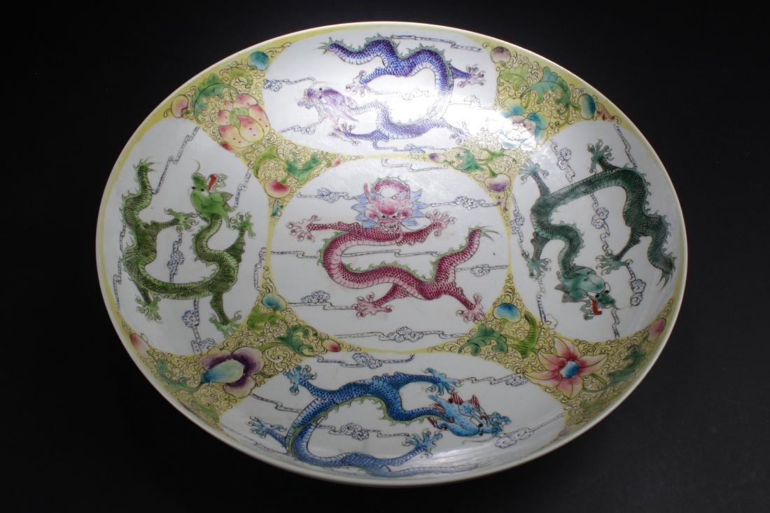 A Massive Chinese Dragon-decorating Windowed Porcelain