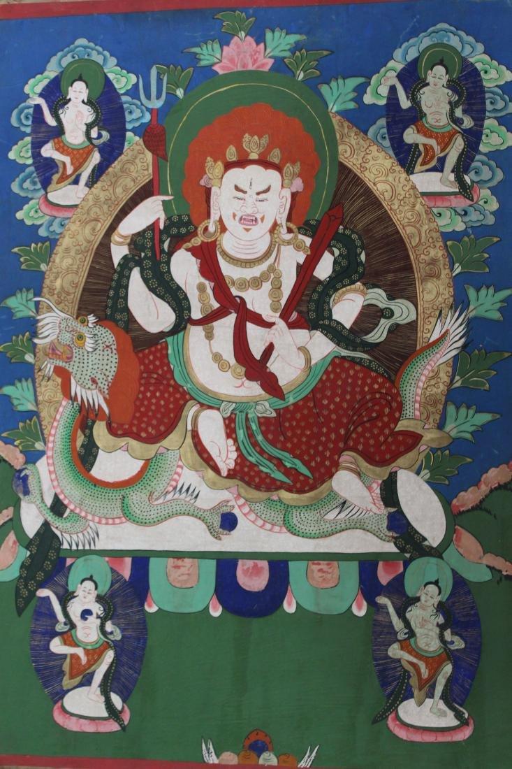 An Estate Chinese Thangka Display