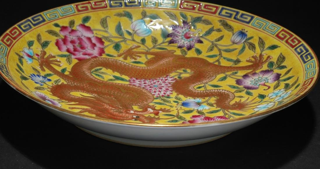 A Chinese Dragon-decorating Estate Porcelain Plate - 3