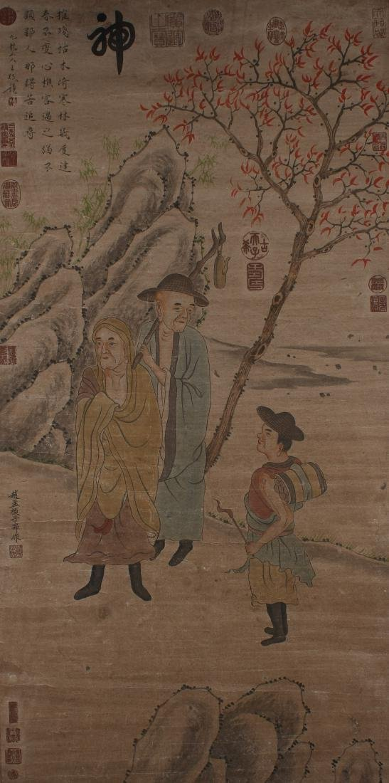 A Chinese Story-telling Estate Display Scroll