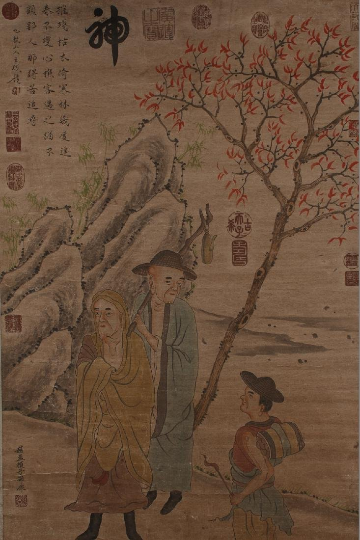 A Chinese Story-telling Estate Display Scroll - 2