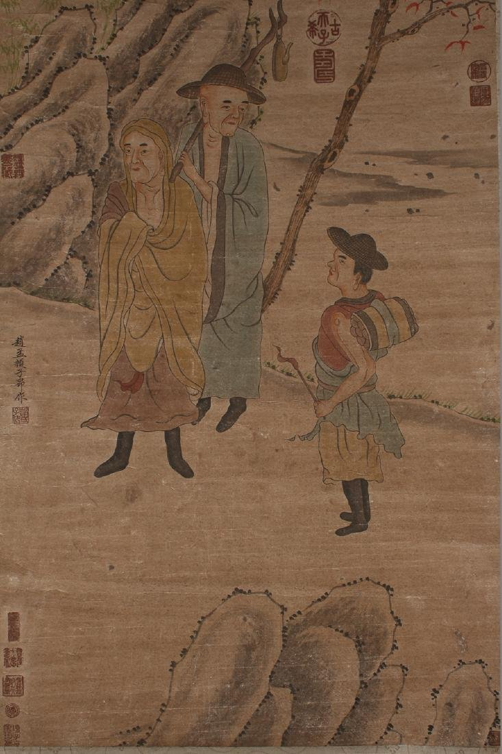 A Chinese Story-telling Estate Display Scroll - 3