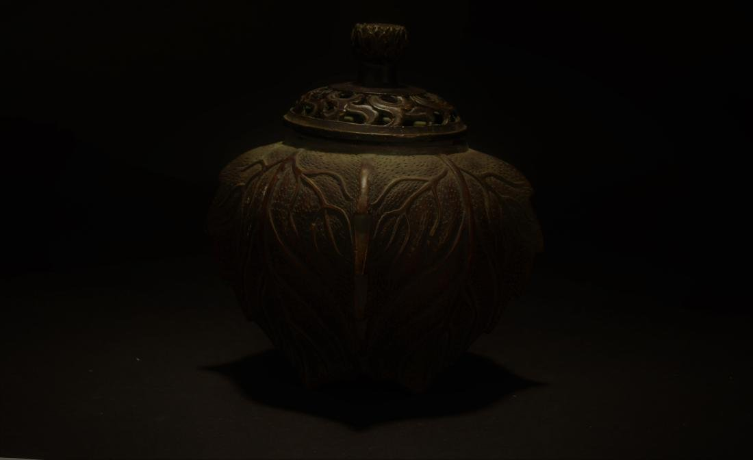 An Estate Chinese Lidded Censer Display - 2
