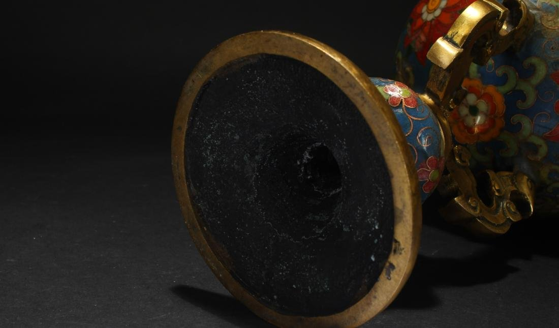 A Lidded Chinese Estate Cloisonne Display Censer - 5