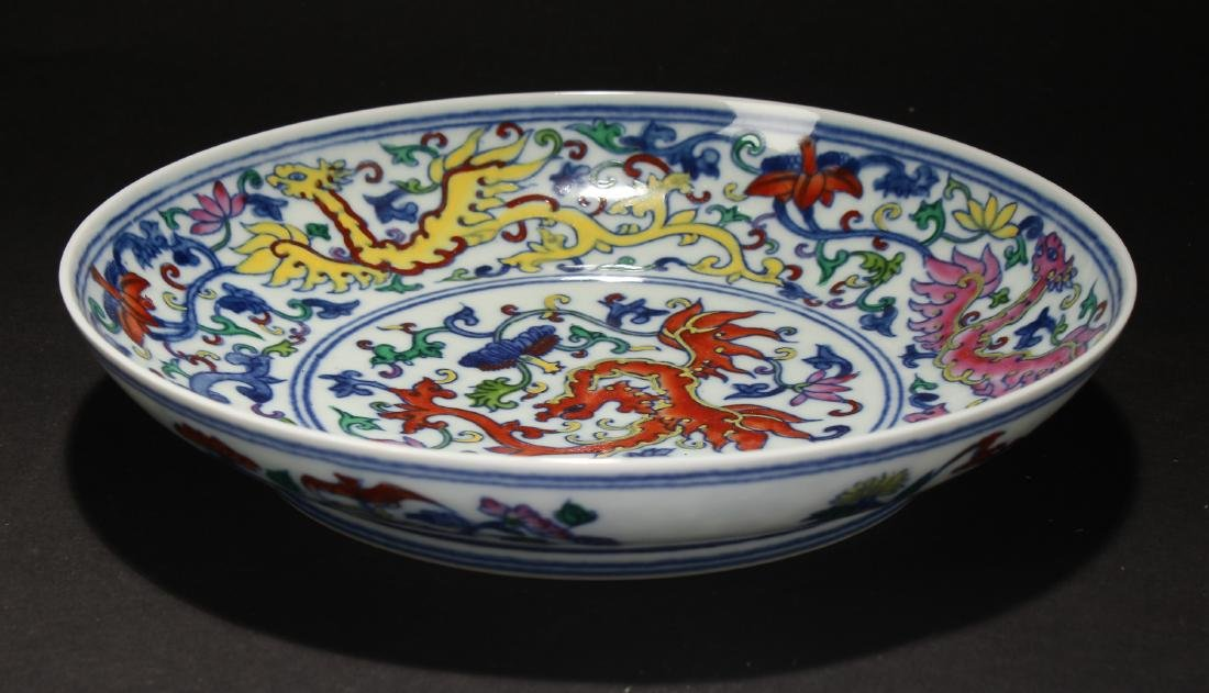 An Estate Chinese Porcelain Plate Display