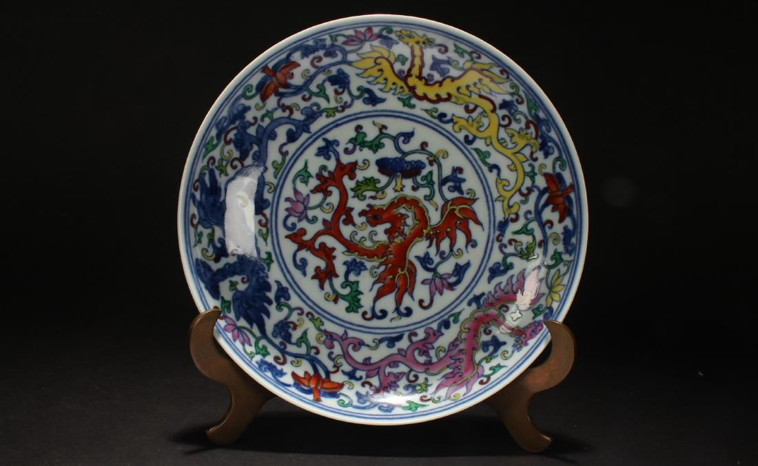 An Estate Chinese Porcelain Plate Display - 2