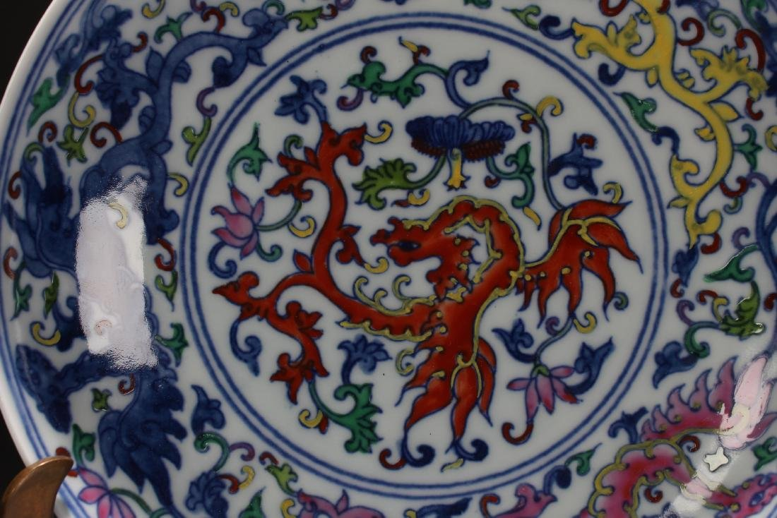 An Estate Chinese Porcelain Plate Display - 3