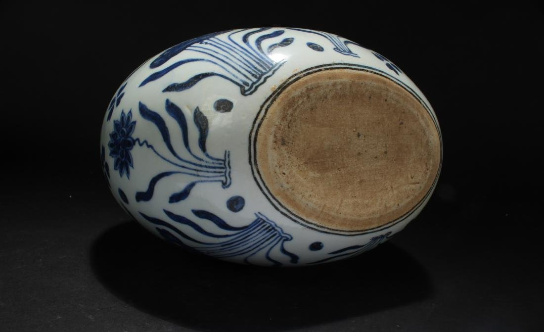 A Chinese Duo-handled Aquatic-fortune Blue and White - 6