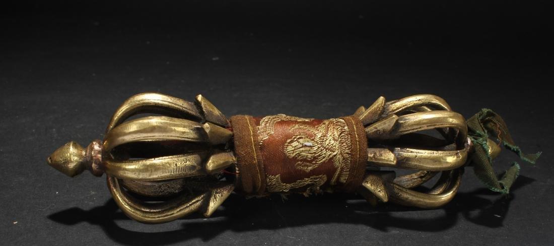 An Estate Tibetan Dagger Display Figure - 2