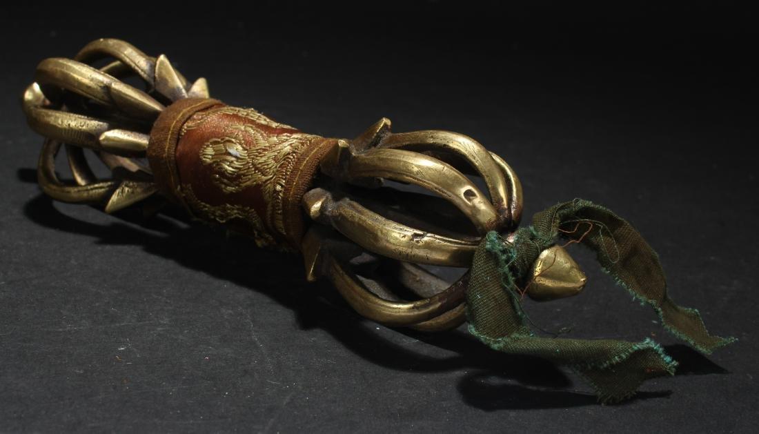 An Estate Tibetan Dagger Display Figure - 3