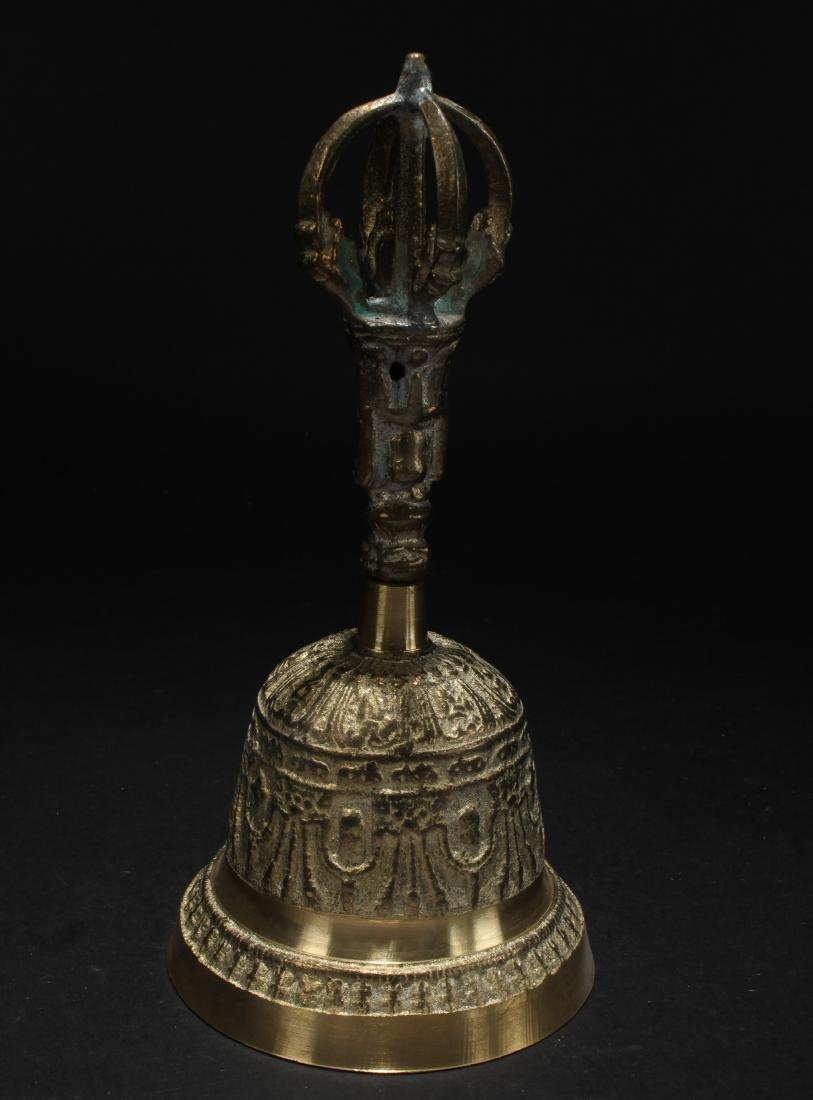 An Estate Tibetan Display Bell - 2