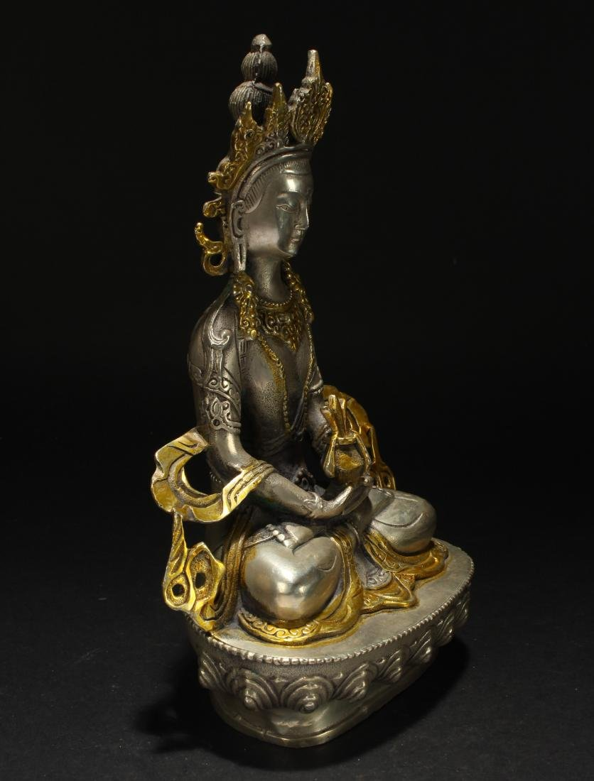 A Chinese Estate Religious Seated Statue Display - 2