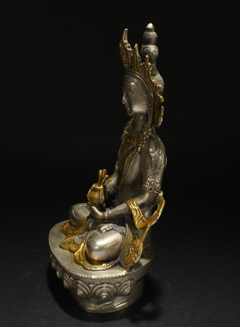 A Chinese Estate Religious Seated Statue Display - 3