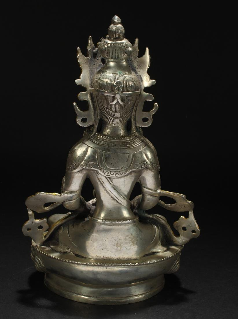 A Chinese Estate Religious Seated Statue Display - 4
