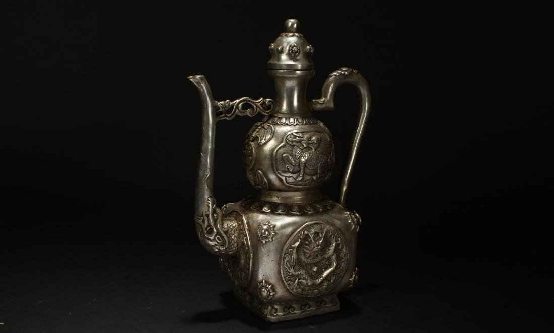 An Estate Chinese Metal-made Fortune Ewer