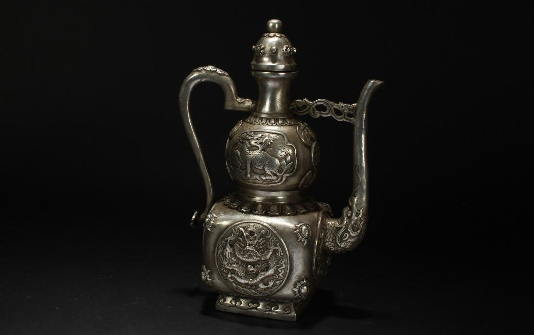 An Estate Chinese Metal-made Fortune Ewer - 2