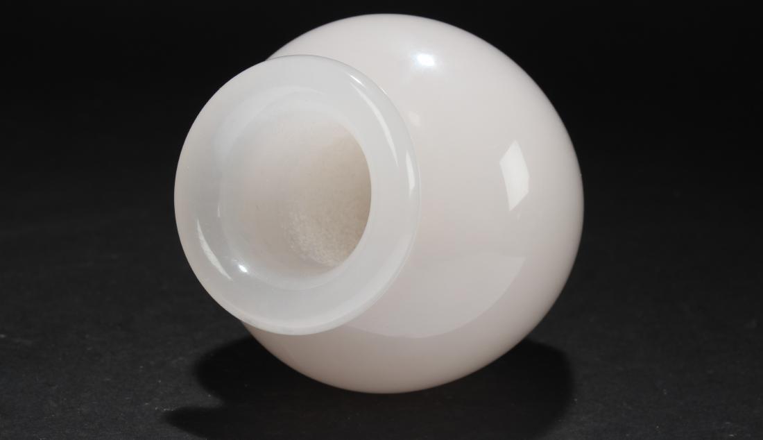 A Circular Jade-curving Vase Figure Display - 3