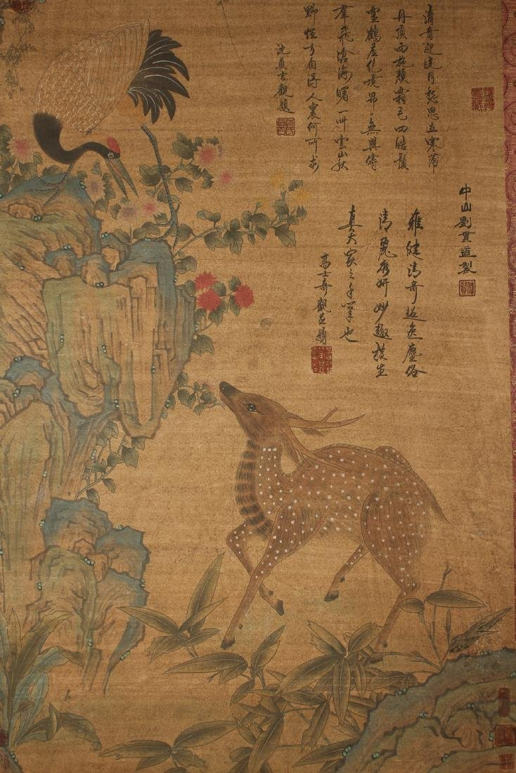 A Chinese Deer-fortune Nature-sceen Estate Display - 3