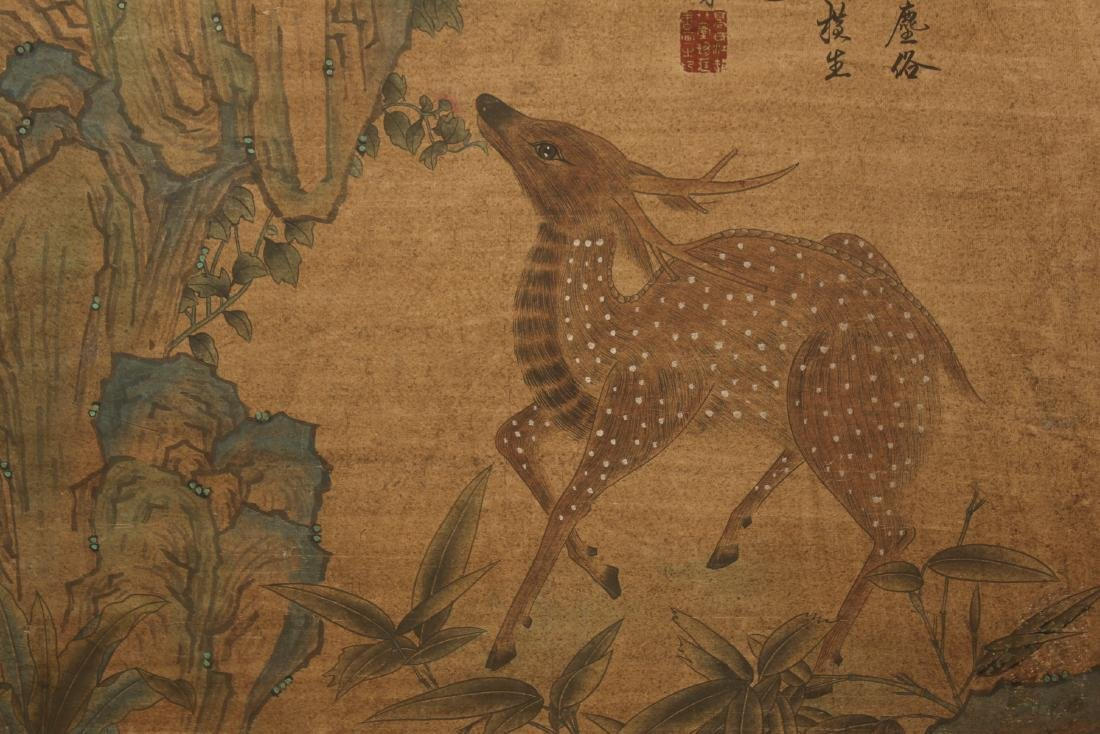 A Chinese Deer-fortune Nature-sceen Estate Display - 4