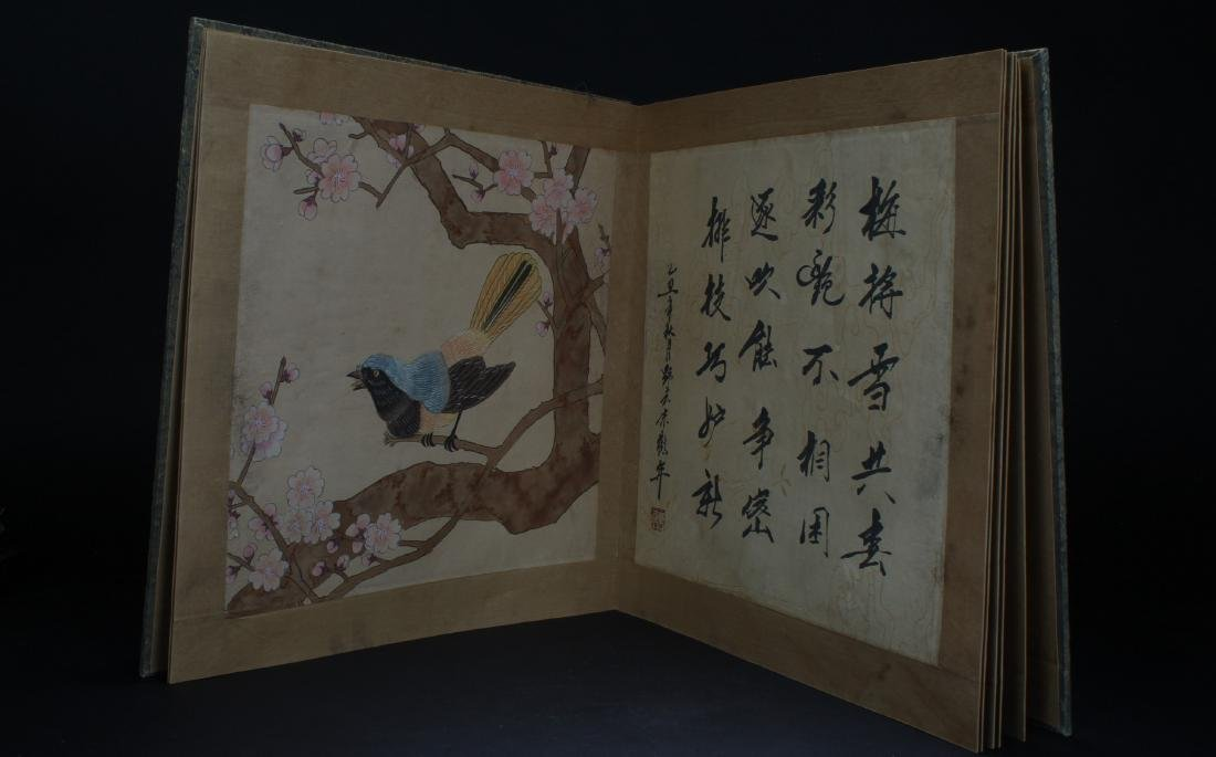 An Estate Chinese Painting Book Display - 7