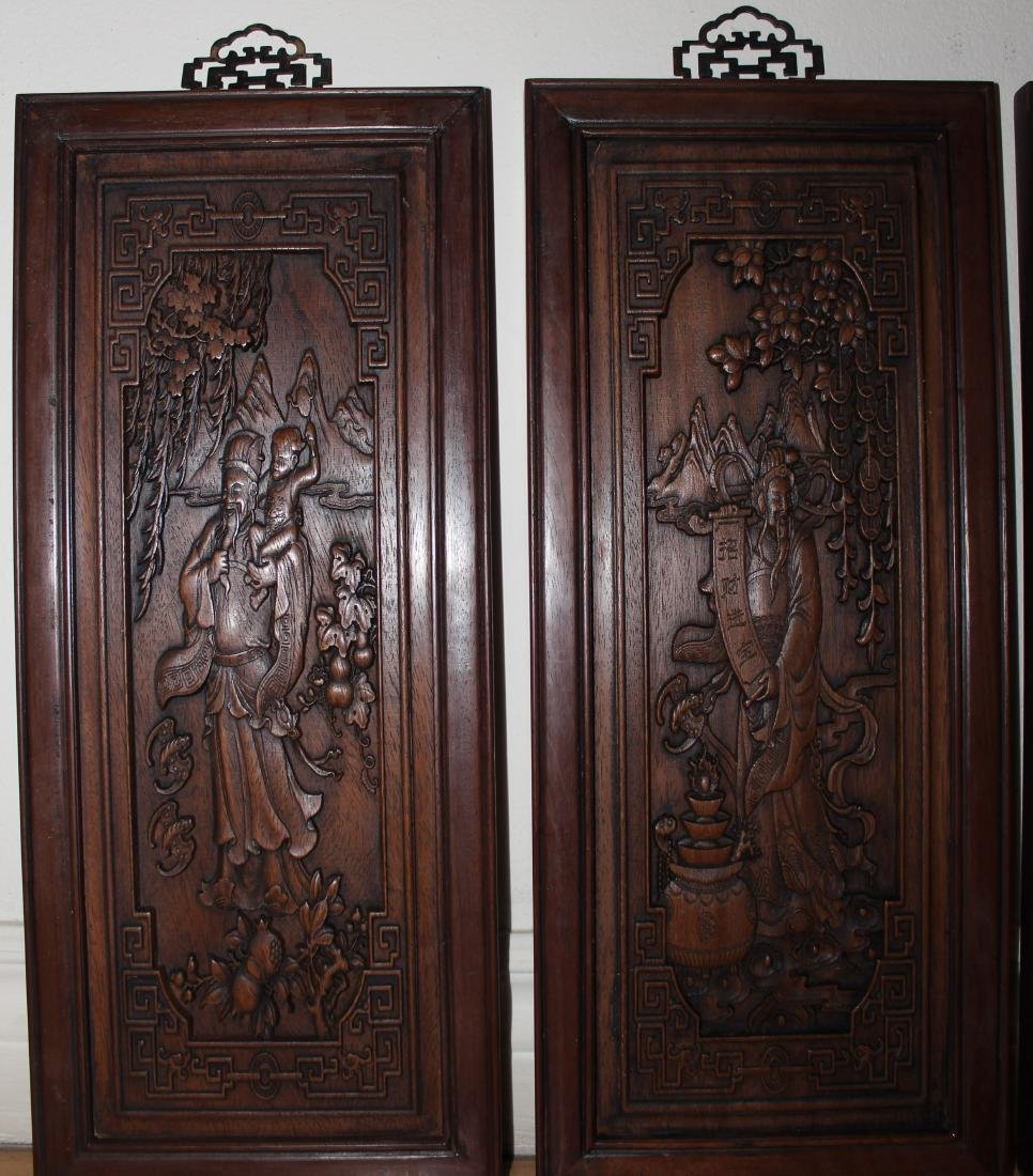 A Set of Chinese Wooden Collection Pannels - 2
