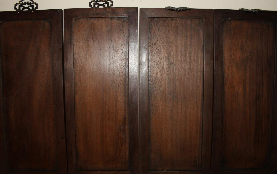 A Set of Chinese Wooden Collection Pannels - 4