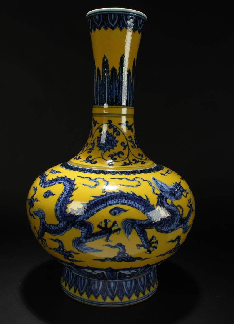 A Chinese Massive Yellow-Fortune Dragon-decorating - 2
