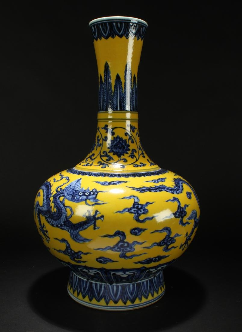A Chinese Massive Yellow-Fortune Dragon-decorating - 3