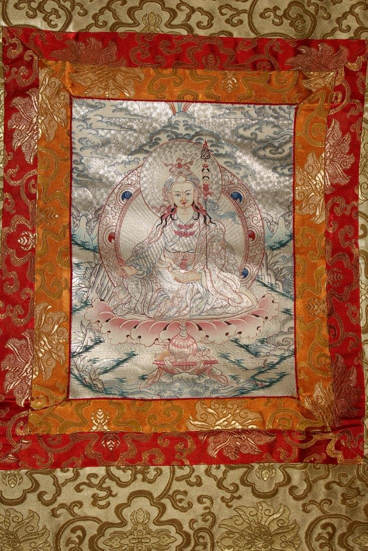 A Religious Estate Tibetan Fortune Thangka Display - 2