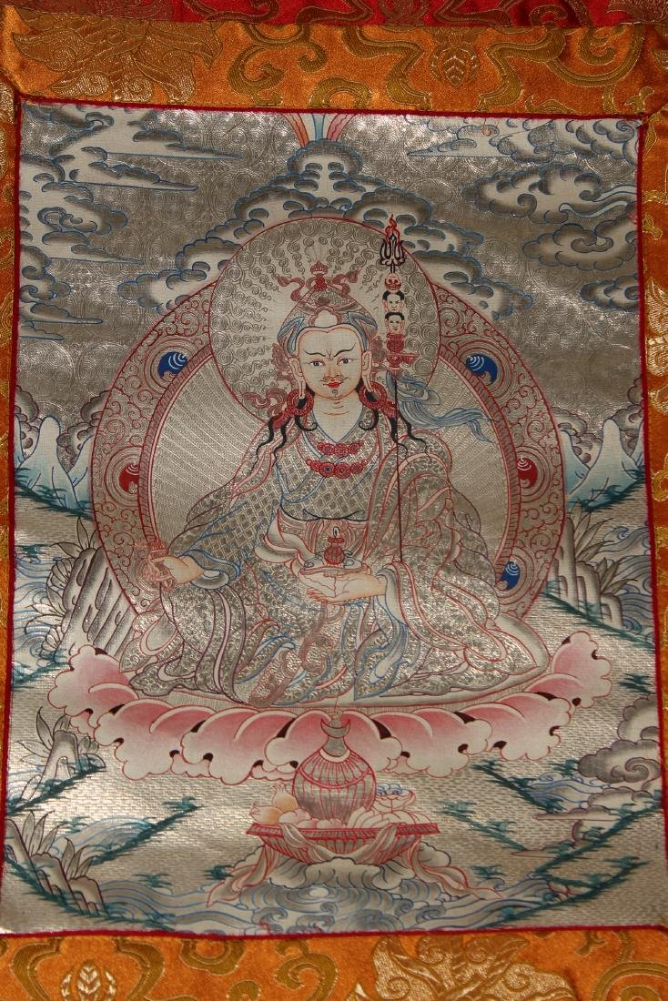 A Religious Estate Tibetan Fortune Thangka Display - 4