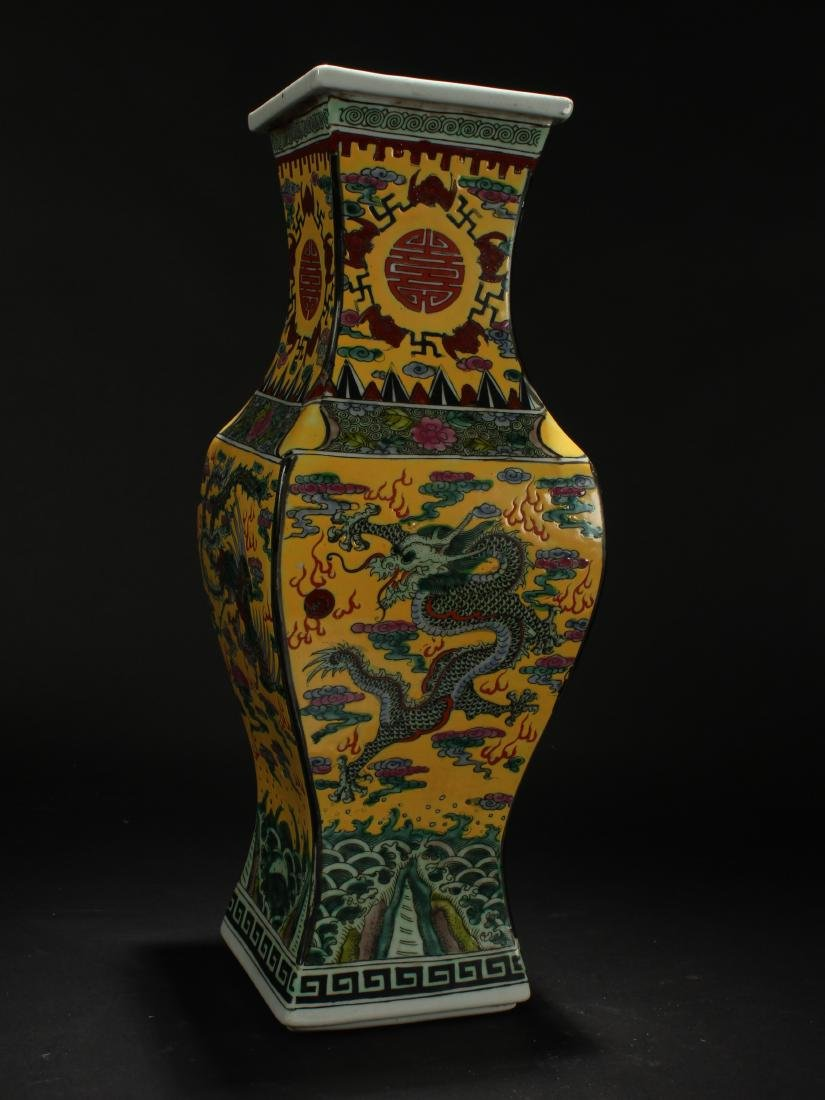 A Chinese Dragon-decorating Longlife-Fortune Porcelain