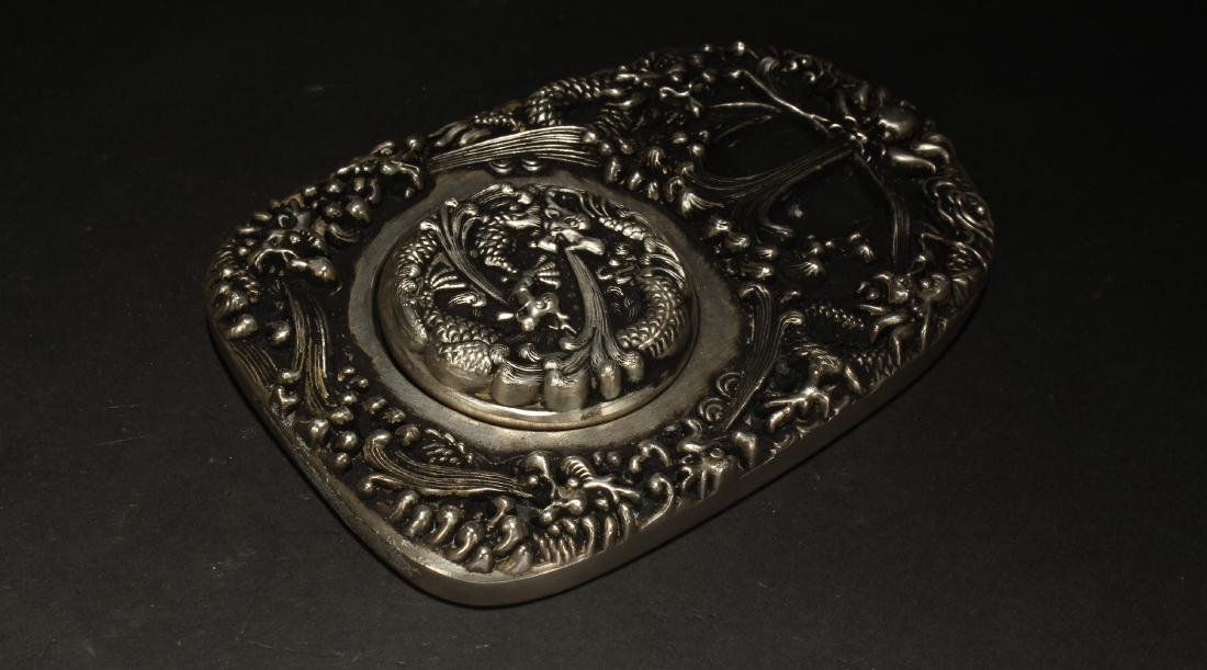 A Chinese Lidded Estate Metal Fortune Display - 2