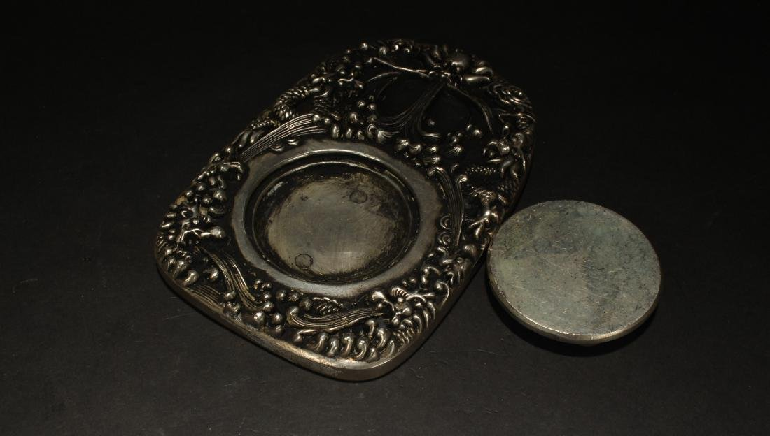 A Chinese Lidded Estate Metal Fortune Display - 4