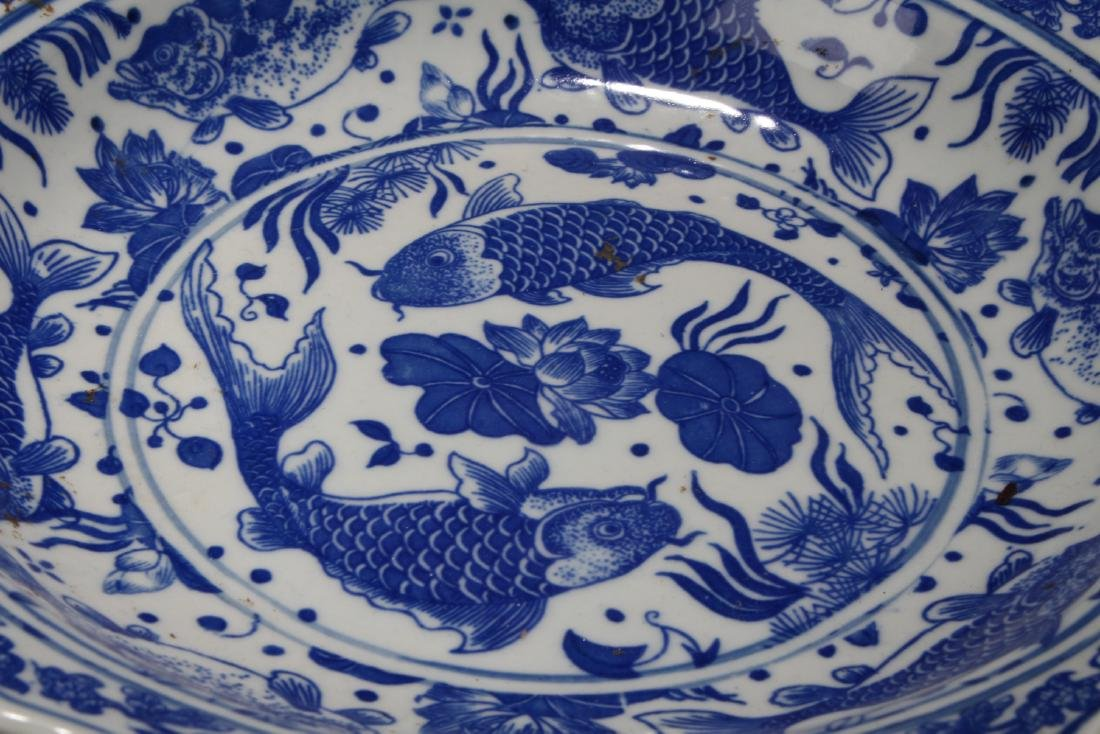 A Aqua-fortune Chinese Blue and White Porcelain Plate - 5