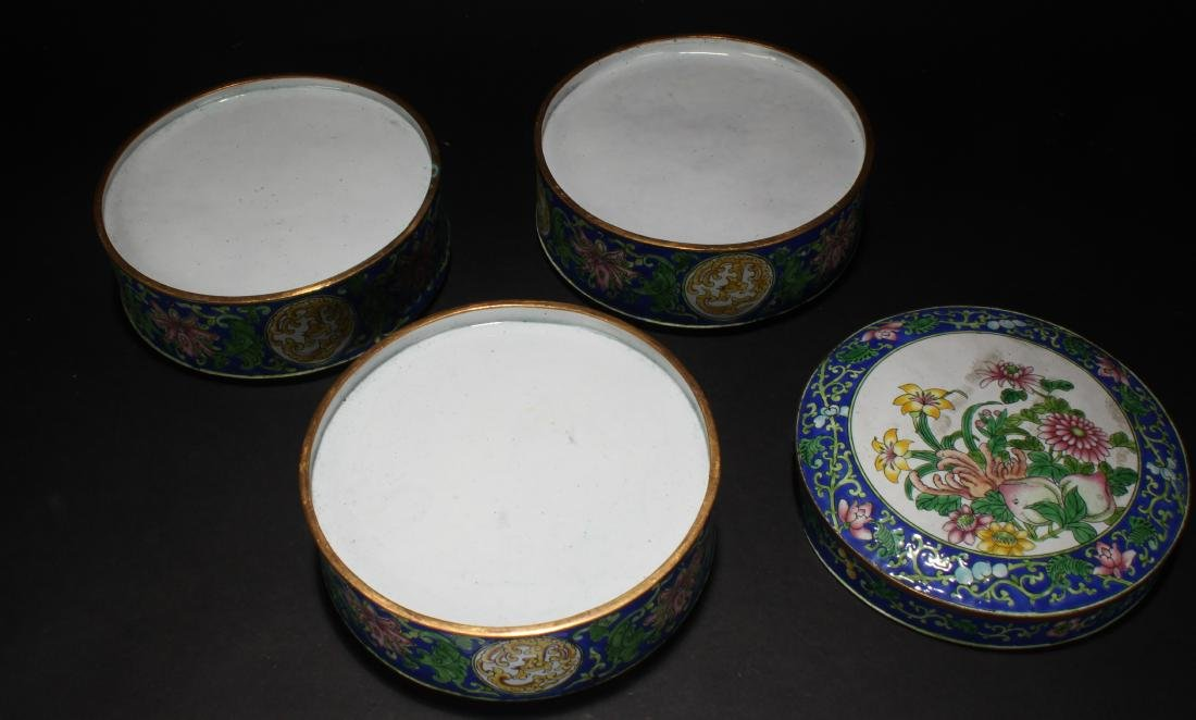 A Chinese Lidded Cloisonne Box Display - 8