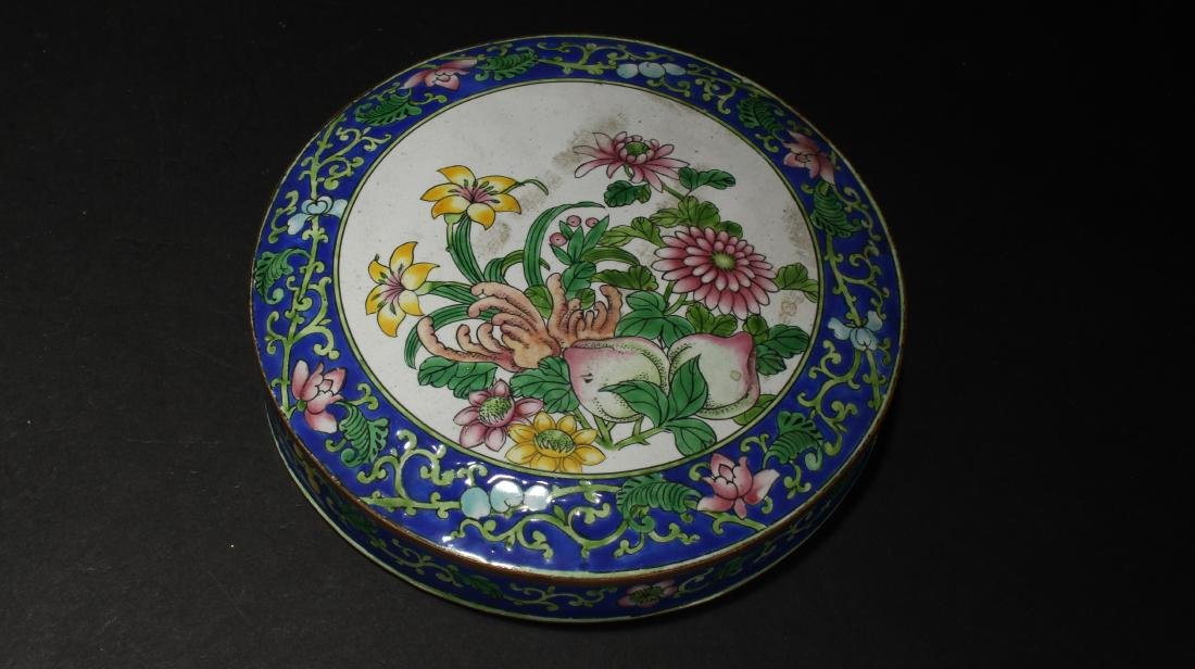 A Chinese Lidded Cloisonne Box Display - 9