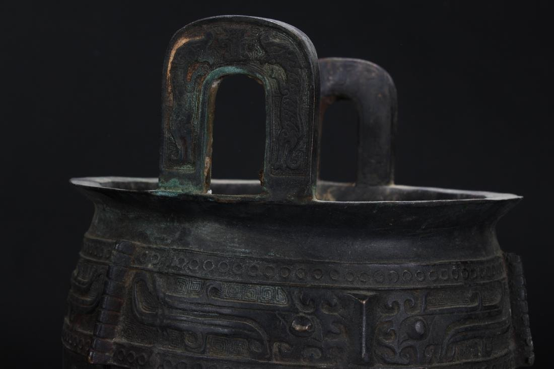 An Estate Chinese Tri-podded Bronze Vessel - 4