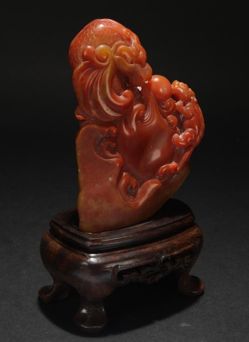 A Chinese Estate Soapstone Display Figure - 2