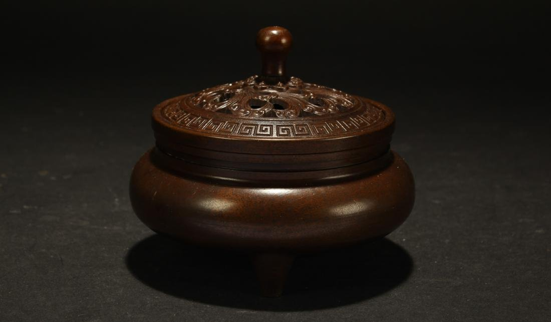 A Chinese Lidded Fengshui Censer