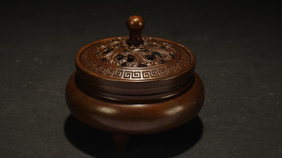 A Chinese Lidded Fengshui Censer - 2