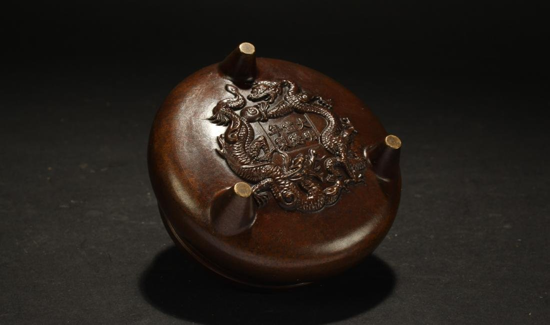 A Chinese Lidded Fengshui Censer - 4
